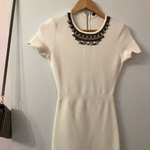 BCBG embellished body con dress